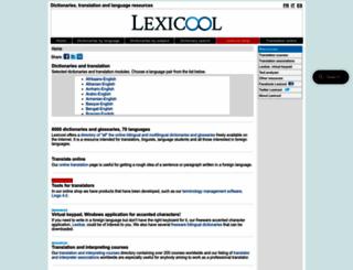 lexicool.com screenshot