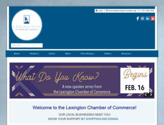 lexingtonchamber.org screenshot