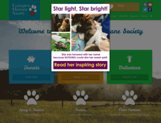 lexingtonhumanesociety.org screenshot