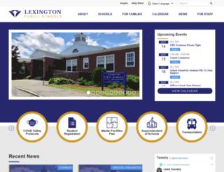 lexingtonps.schoolwires.net screenshot