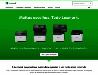 lexmark.pt screenshot