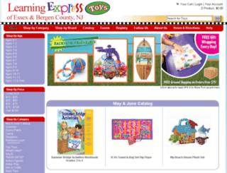 lexnj.learningexpresstoys.com screenshot