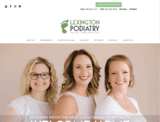 lexpodiatry.com screenshot