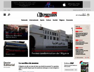 lexpressiondz.com screenshot
