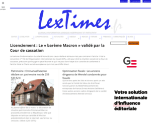 lextimes.fr screenshot