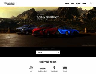 lexus.com screenshot