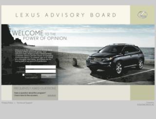 lexusadvisoryboard.com screenshot