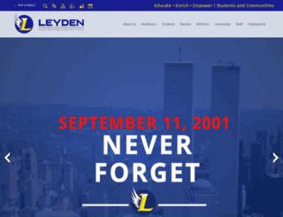 leyden.schoolwires.net screenshot