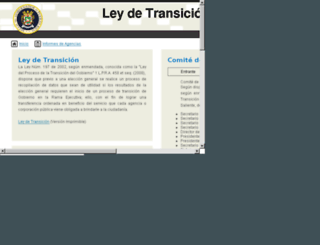 leydetransicion2012.pr.gov screenshot