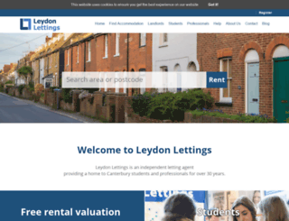 leydonlettings.co.uk screenshot