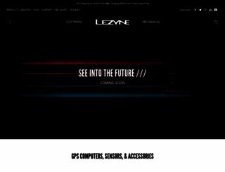 lezyne.com screenshot