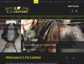 lforleather.com.au screenshot
