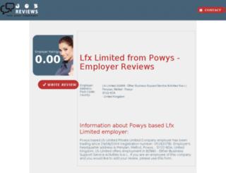 lfx-limited.job-reviews.co.uk screenshot