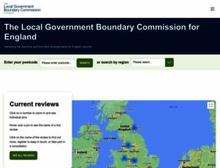 lgbce.org.uk screenshot