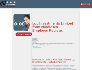 lgc-investments-limited.job-reviews.co.uk screenshot