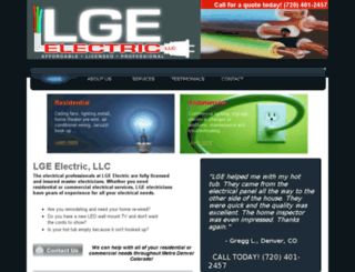 lgeelectric.com screenshot