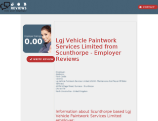lgj-vehicle-paintwork-services-limited.job-reviews.co.uk screenshot