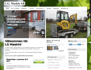 lgmaskin.com screenshot