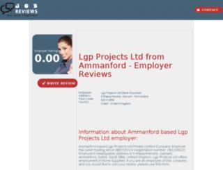 lgp-projects-ltd.job-reviews.co.uk screenshot