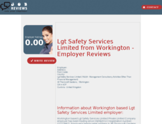 lgt-safety-services-limited.job-reviews.co.uk screenshot