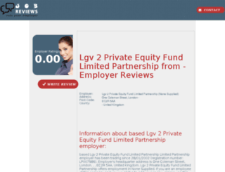 lgv-2-private-equity-fund-limited-partnership.job-reviews.co.uk screenshot