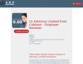 lh-advisory-limited.job-reviews.co.uk screenshot