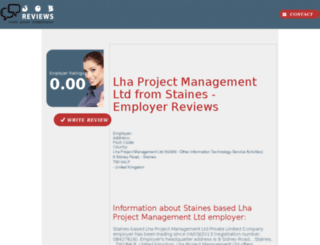 lha-project-management-ltd.job-reviews.co.uk screenshot