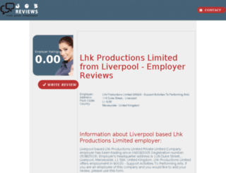 lhk-productions-limited.job-reviews.co.uk screenshot