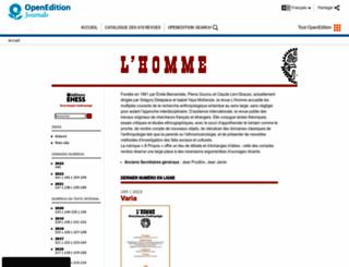 lhomme.revues.org screenshot