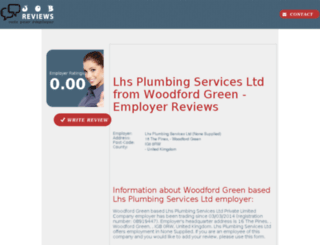 lhs-plumbing-services-ltd.job-reviews.co.uk screenshot