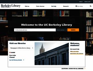 lib.berkeley.edu screenshot