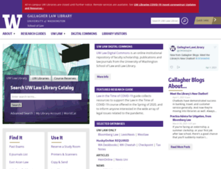 lib.law.washington.edu screenshot