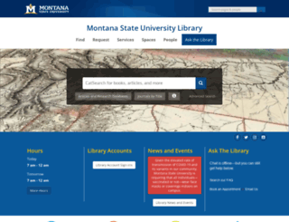 lib.montana.edu screenshot