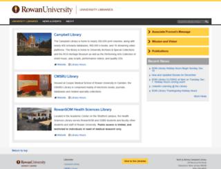 lib.rowan.edu screenshot