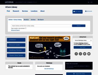 lib.uconn.edu screenshot