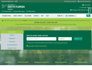 lib.usf.edu screenshot