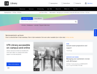 lib.uts.edu.au screenshot