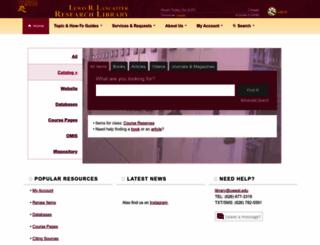lib.uwest.edu screenshot