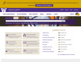 lib.washington.edu screenshot