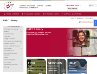 lib2.hacc.edu screenshot