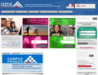 liban.campusfrance.org screenshot