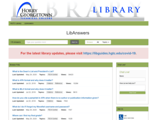 libanswers.hgtc.edu screenshot