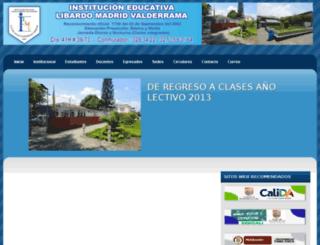 libardomadridvalderrama.edu.co screenshot