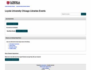 libcal.luc.edu screenshot