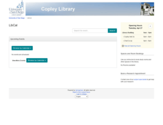 libcal.sandiego.edu screenshot