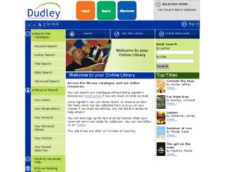 libcat.dudley.gov.uk screenshot