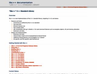 libcxx.llvm.org screenshot