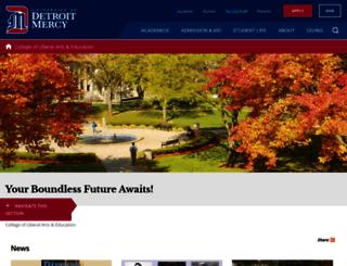 liberalarts.udmercy.edu screenshot