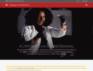 liberalarts.unlv.edu screenshot