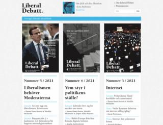 liberaldebatt.se screenshot